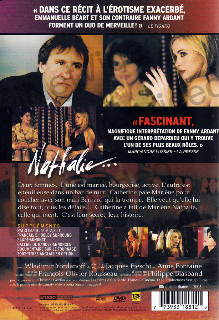 Nathalie    (French cover with English Subtitles) on DVD Movie