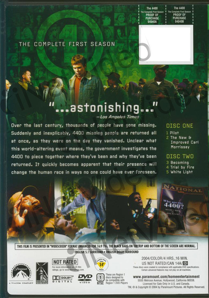 The 4400 - The Complete First Season (2004) on DVD Movie