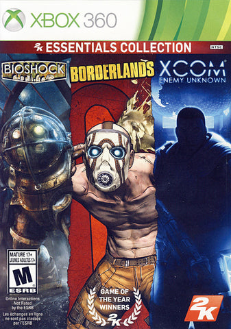 2K Essentials Collection (Bioshock, Borderlands and XCOM Enemy Unknown) (Bilingual Cover) (XBOX360) XBOX360 Game