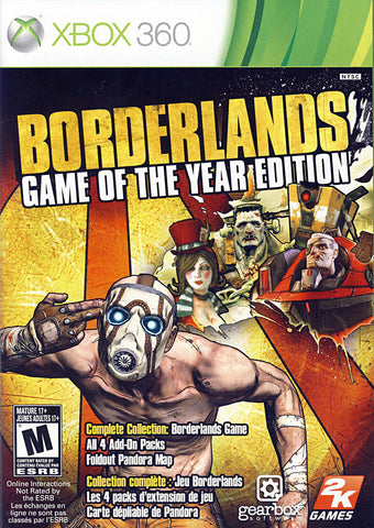 Borderlands - Game of the Year Edition (Bilingual Cover) (XBOX360) XBOX360 Game