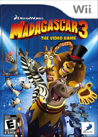 Madagascar 3 - The Video Game (Trilingual Cover) (NINTENDO WII) NINTENDO WII Game