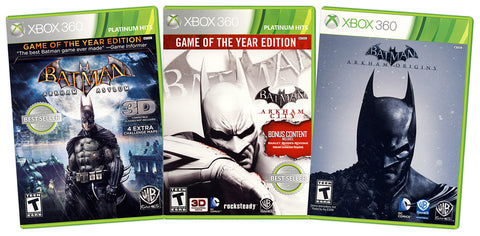 Batman Value Pack: (Arkham Asylum / Arkham City / Arkham Origins) (3-Pack) (xbox 360) (XBOX360) XBOX360 Game