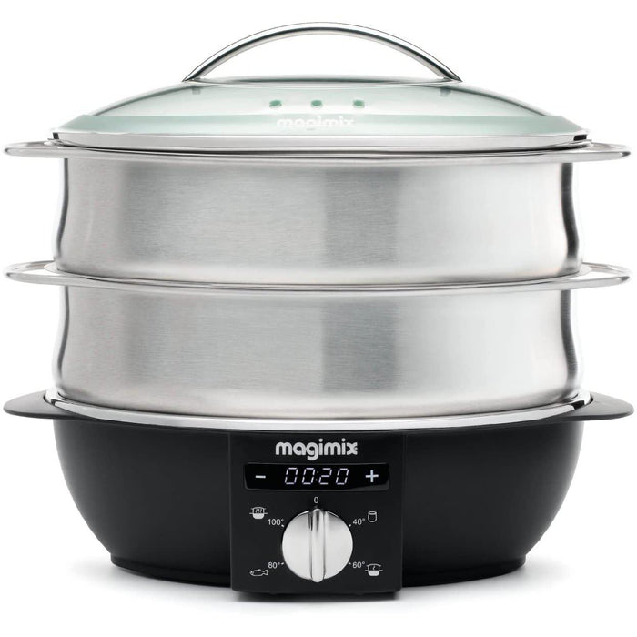 Magimix Multi-Functional Steamer, Brushed Steel-Electric Steamer-Magimix-northXsouth