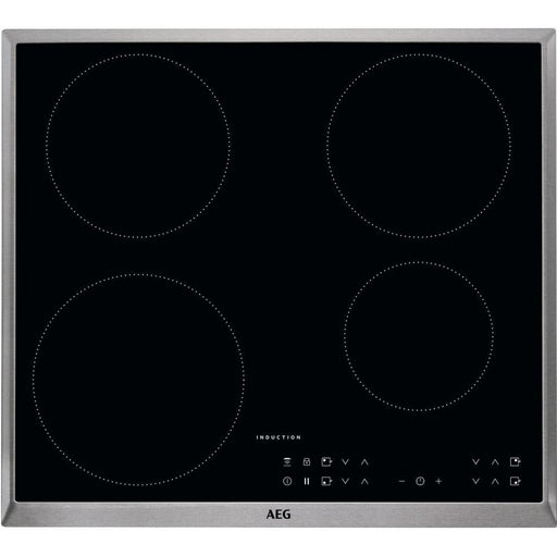 AEG IKB64301XB 60cm Electric Induction Hob with Steel Trim-Induction Hob-AEG-northXsouth