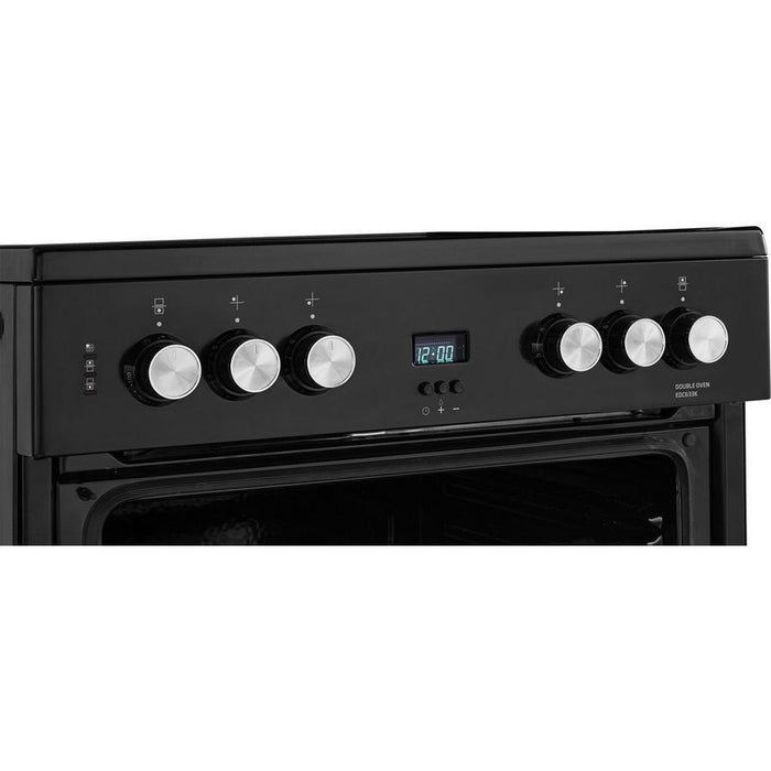 Beko EDC633K 60cm Freestanding Double Oven / Electric Cooker - Black-Freestanding cooker-Beko-northXsouth
