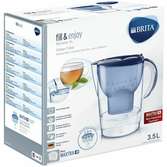Brita Marella XL Water Filter Jug, Large 3.5L Maxtra+ Pitcher, Blue-Brita Filter Jug-Brita-northXsouth