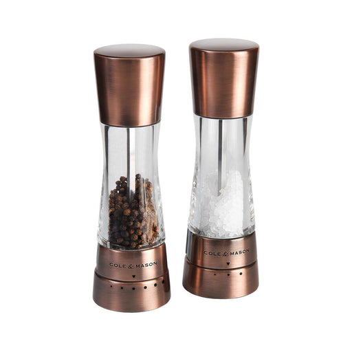 Cole & Mason H59418G Copper Salt & Pepper Mill Gift Set-Salt and Pepper Mill Set-Cole & Mason-northXsouth