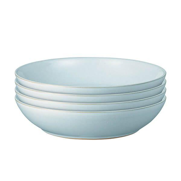 Denby Intro Pale Blue Pasta Bowls Set of 4-TABLEWARE-Denby-northXsouth
