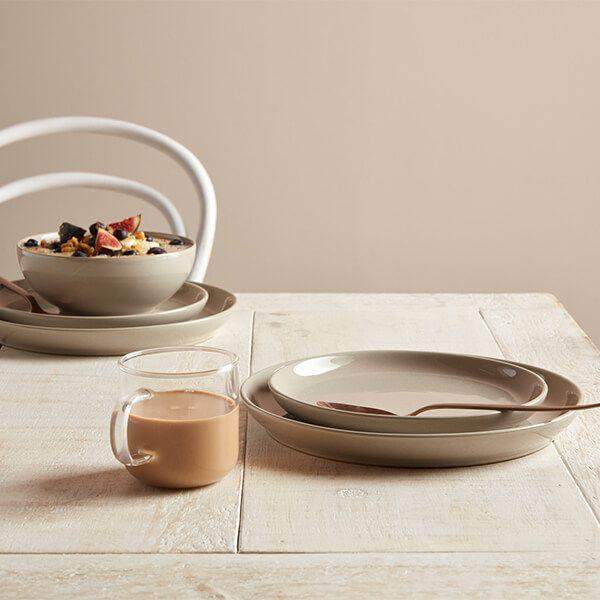Denby Intro Warm Taupe 12 Piece Tableware Box Set-Tableware-Denby-northXsouth