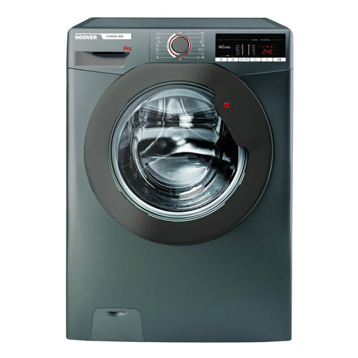 Hoover 8kg 1500 Spin Washing Machine - Graphite - A+++ Energy Rated H3W58TGGE-washing machine-Hoover-northXsouth
