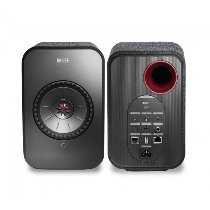 KEF LSX Wireless Speaker System - Black-Wireless Speakers-Kef-northXsouth