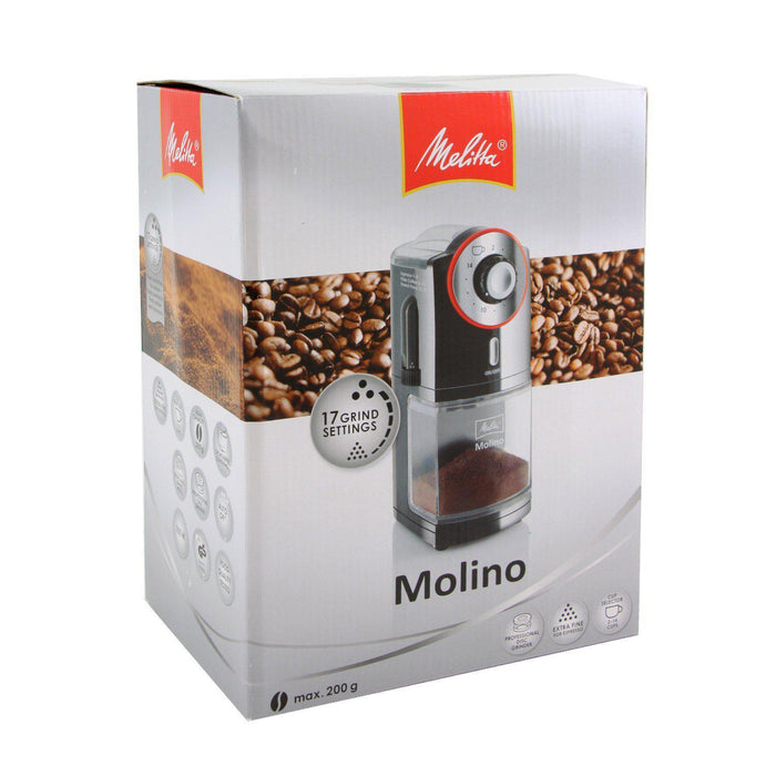 Melitta Molino Electric Burr Coffee Grinder with Adjustable Grind Settings-Coffee Grinder-Melitta-northXsouth