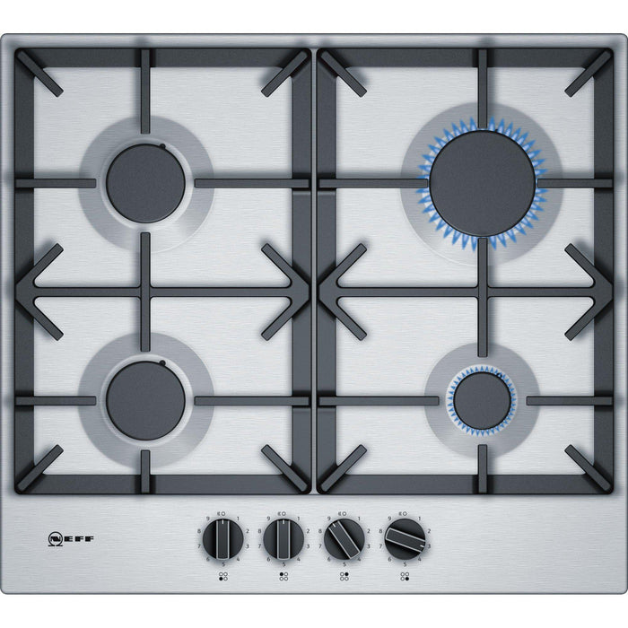 Neff T26DS49N0 60cm Built-in Gas Hob - Stainless Steel-Gas Hob-Neff-northXsouth