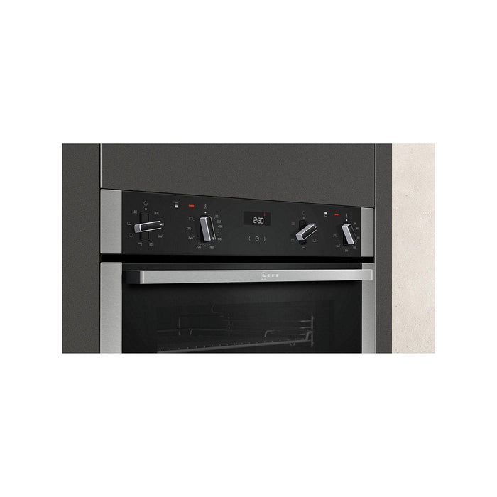 Neff U1ACE2HN0B Built-In Eye Level Double Oven, Stainless Steel-Double oven-Neff-northXsouth
