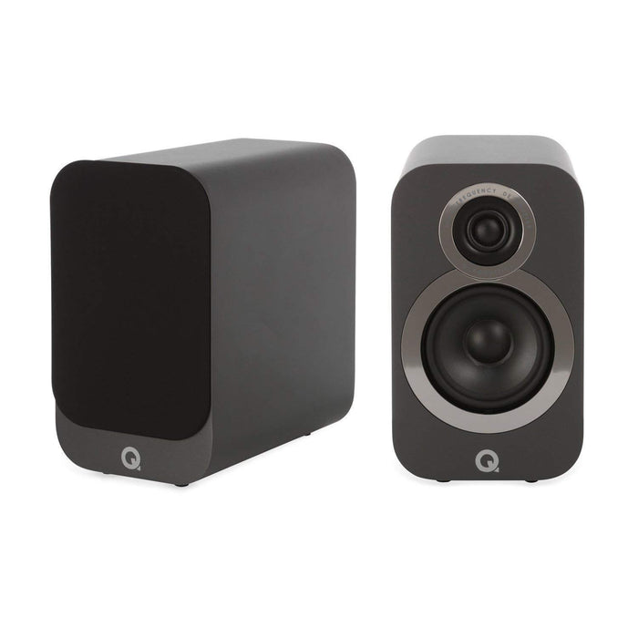 Q Acoustics 3010i Bookshelf Speaker Pair - Graphite Grey-Bookshelf Speaker-Q Acoustics-northXsouth