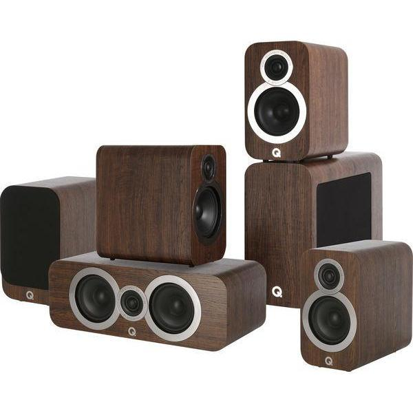 Q Acoustics 3010i Cinema Pack - English Walnut-Home Cinema Speakers-Q Acoustics-northXsouth