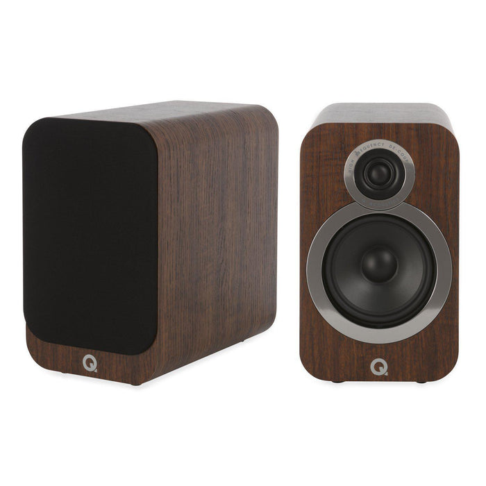 Q Acoustics 3020i Bookshelf Speaker Pair - Walnut-Bookshelf Speaker-Q Acoustics-northXsouth