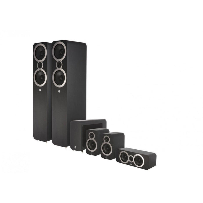Q Acoustics 3050i Cinema Pack - Carbon Black-Home Cinema Speakers-Q Acoustics-northXsouth