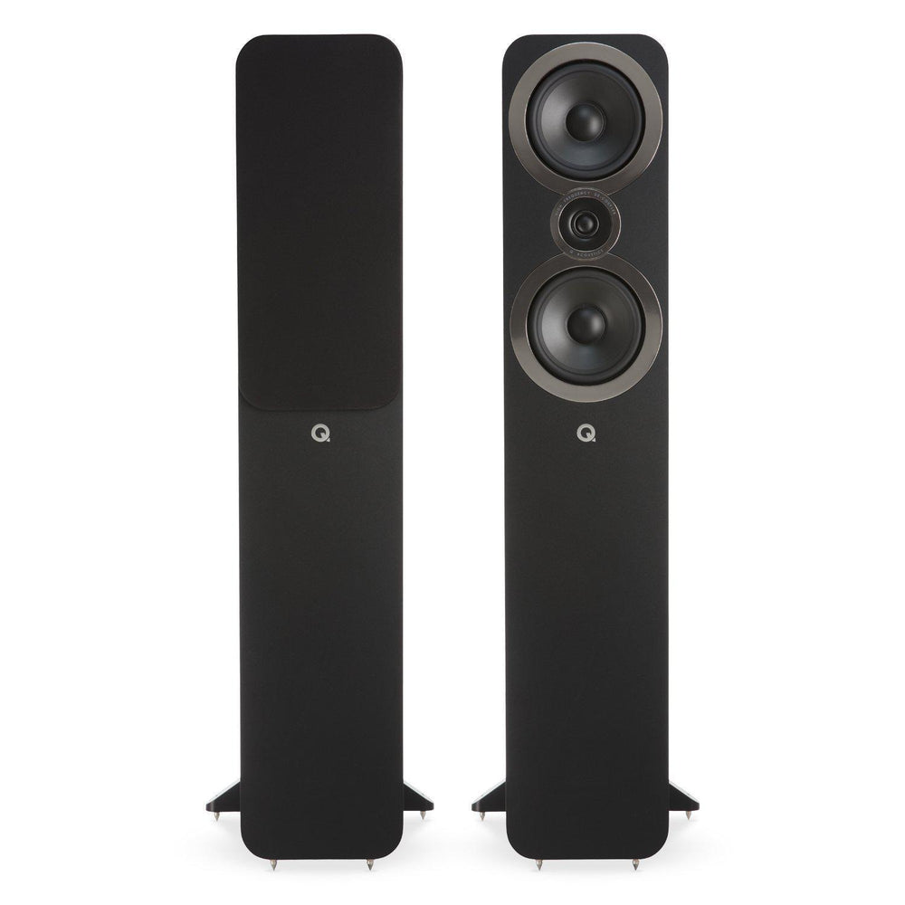 Q Acoustics 3050i Floorstanding Speaker Pair - Black-Floorstanding Speakers-Q Acoustics-northXsouth