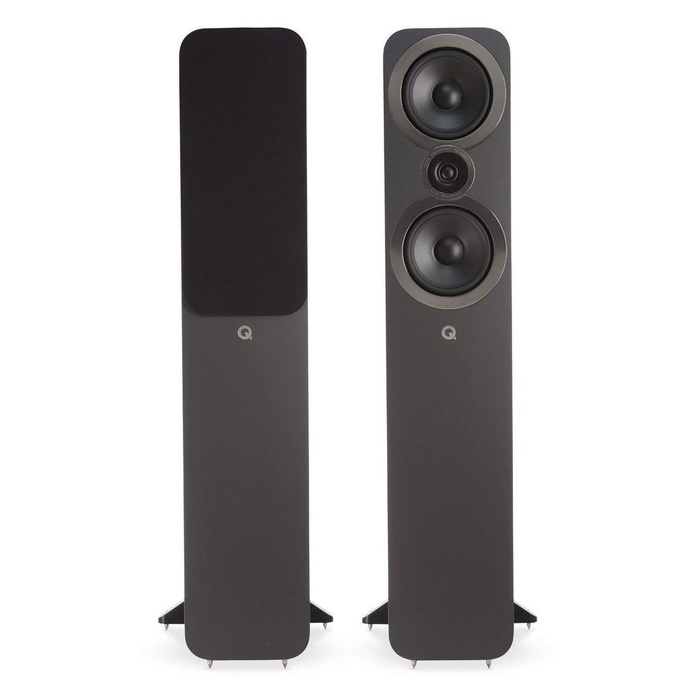 Q Acoustics 3050i Floorstanding Speaker Pair - Graphite Grey-Floorstanding Speakers-Q Acoustics-northXsouth