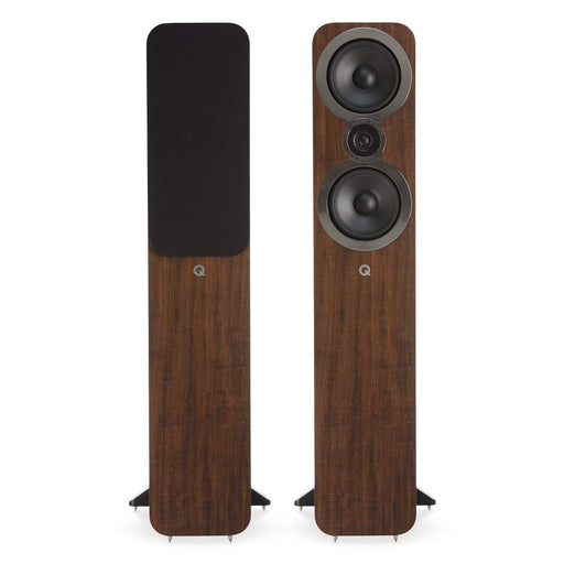 Q Acoustics 3050i Floorstanding Speaker Pair - Walnut-Floorstanding Speakers-Q Acoustics-northXsouth