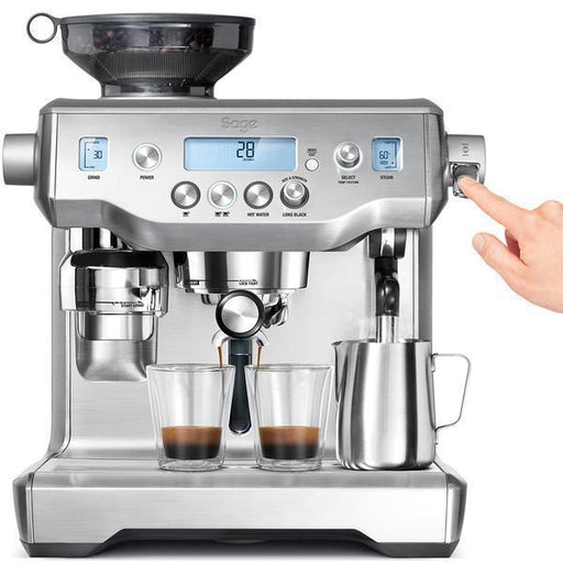Sage Oracle Espresso Bean To Cup Coffee Machine - Silver-Bean-to-Cup Coffee Machines-Sage-northXsouth