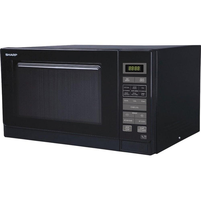 Sharp R372KM 25 Litre Solo Microwave - Black-Microwave-Sharp-northXsouth