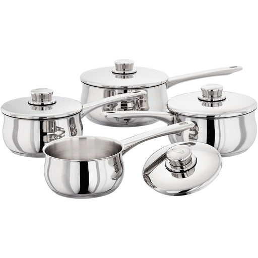 Stellar 1000 4 Piece Stainless Steel Pan Set - Induction-Pan Sets-Stellar-northXsouth