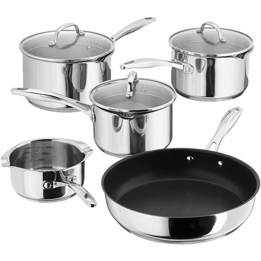 Stellar S7C1D 5 Piece Induction Pan Set with Draining Lids-Pan Sets-Stellar-northXsouth