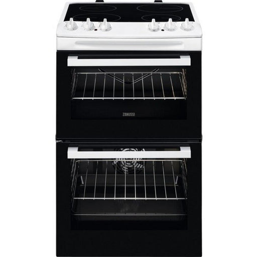 Zanussi ZCV46050WA 55cm Electric Double Cooker - White-Freestanding cooker-Zanussi-northXsouth