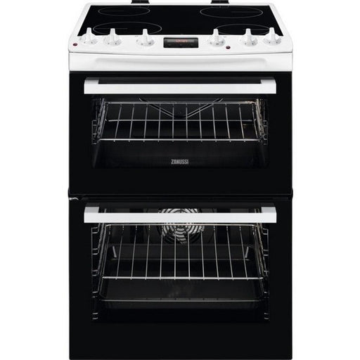 Zanussi ZCV66078WA 60cm Electric Double Oven Cooker - White-Freestanding cooker-Zanussi-northXsouth