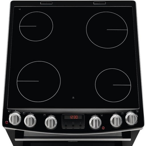 Zanussi ZCV66078XA 60cm Electric Double Cooker - Stainless Steel-Freestanding cooker-Zanussi-northXsouth