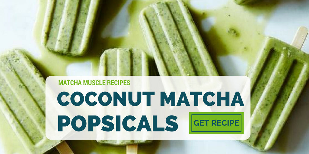 Matcha Muscle Coconut Popsicals