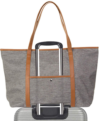 Pier 17 Canvas Tote Bag for Women - Laptop Work Teacher Grocery Nurse School Book Totes
