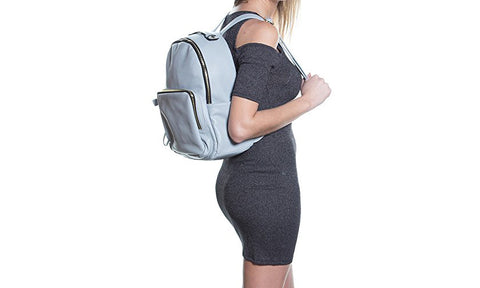 Backpack for Women - Leather Backpack Purse for Women - Zipper Closure Pockets