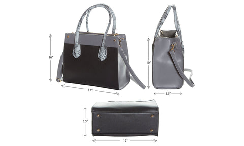 Metallic Fashion Beach Bag Tote with Zipper Top, Rope Handles, and Matching Pouch