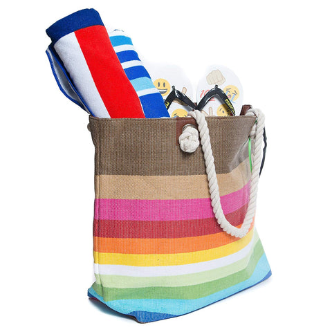 Beach Bag By Pier 17 - Extra Large Straw Beach Tote with Top Zipper Closure, Cotton Rope Handles, 2 Inner Pocket and Built-In Inner Backing Support for Extra Durability