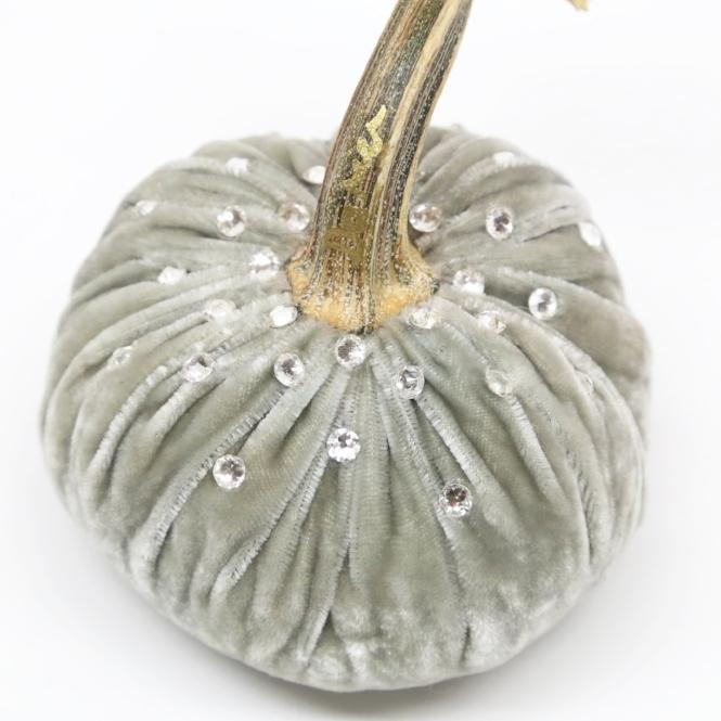 4-inch ~ Silk Velvet Designer Pumpkins with Swarovski Crystals by Hot Skwash - PoppyandPeaches.com - Hot Skwash