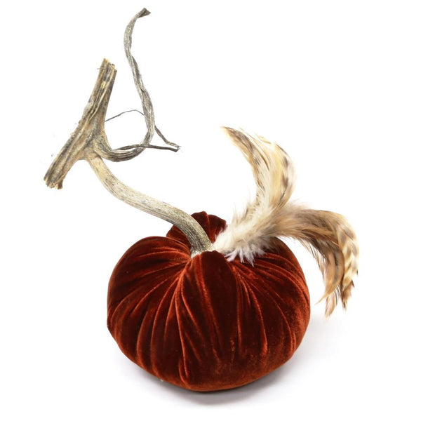 "4"" ~ Red Chinchilla Feather Plume ~ Velvet Pumpkins - PoppyandPeaches.com - Hot Skwash"