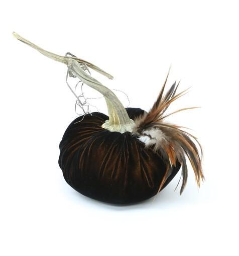 "6"" ~ Furnace Feather Plume ~ Velvet Pumpkins - PoppyandPeaches.com - Hot Skwash"