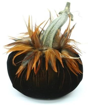 "Jumbo {11""} ~ Furnace Feather Collar ~ Velvet Pumpkins - PoppyandPeaches.com - Hot Skwash"