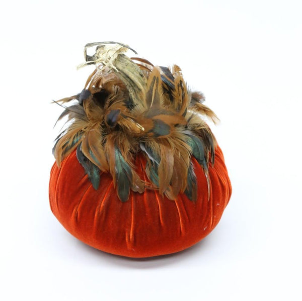 "Jumbo {11""} ~ Half Bronze Feather Collar ~ Velvet Pumpkins - PoppyandPeaches.com - Hot Skwash"