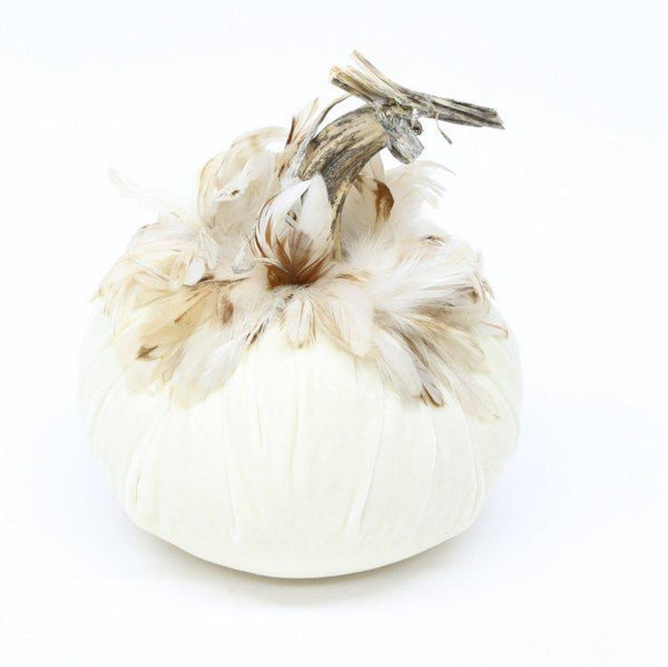 "Luca {18""-19""} ~ Ginger Schlappen Feather Collar ~ Velvet Pumpkins - PoppyandPeaches.com - Hot Skwash"