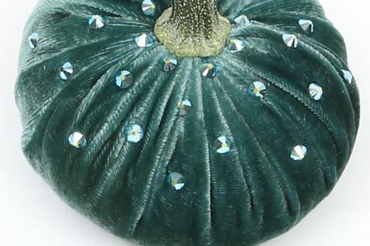 "Luca {18""-19""} ~ Silk Velvet Designer Pumpkins with Swarovski Crystals by Hot Skwash - PoppyandPeaches.com - Hot Skwash"