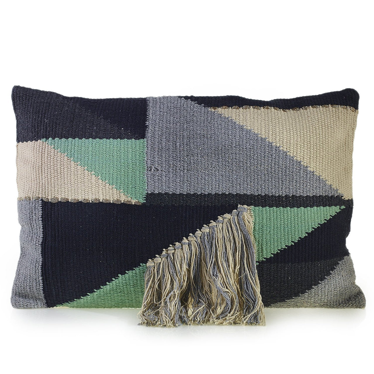 Mahalo Pillow with Geo Design - PoppyandPeaches.com - Accent Decor