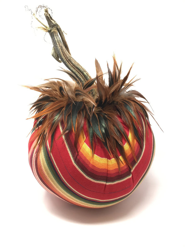 Serape with Furnace Feathers - Designer Pumpkin by Hot Skwash - PoppyandPeaches.com - Hot Skwash