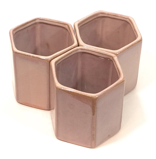 "Tula Pot 3"" - Set of 3 - PoppyandPeaches.com - Accent Decor"