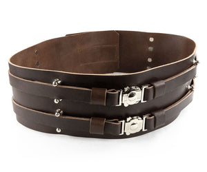Brown Double Leather Belt