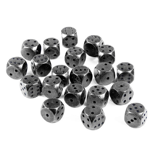 Square Heavy Metal Six Sided 12mm D6 Dice