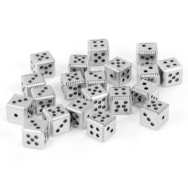 Sci-Fi Hex Metal 12mm Dice